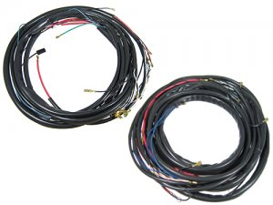 wiring harness, complete - us version lhd karmann ghia coupe or cv 1961-1965